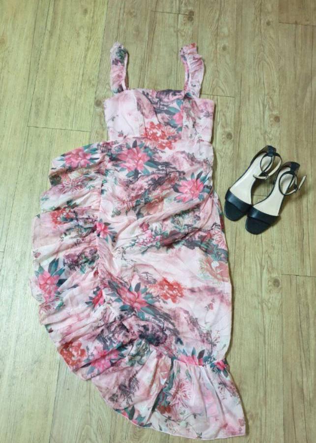 váy hoa maxi