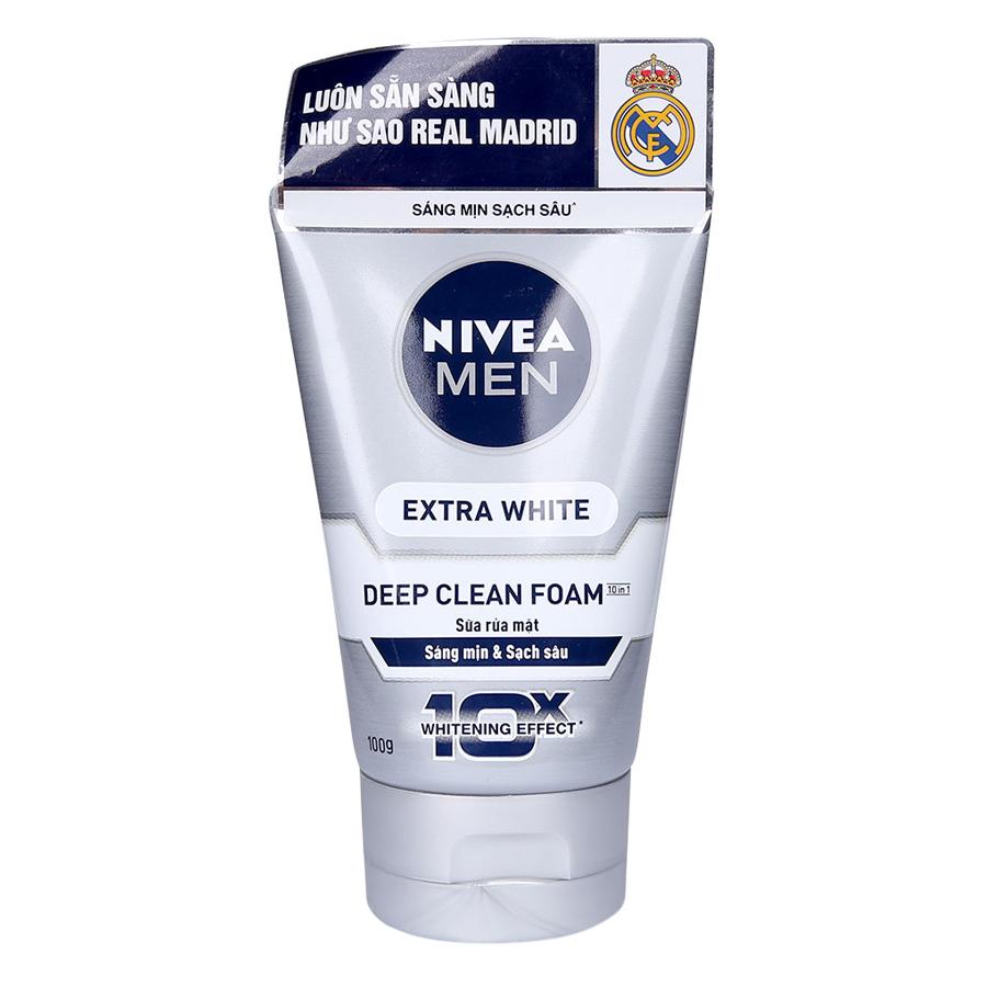 Sữa Rửa Mặt Nam Nivea Men Sáng Mịn Sạch Sâu (Tuýp 100g)