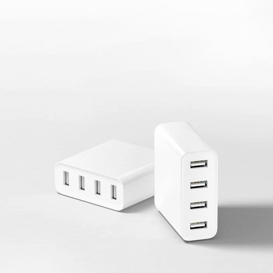 Xiaomi USB Charger 4 Ports Fast Charging QC 3.0 Output Portable Durable Universal Plug Travel Power Adapter Type-C - 1905057 , 8543351089888 , 62_14594783 , 488000 , Xiaomi-USB-Charger-4-Ports-Fast-Charging-QC-3.0-Output-Portable-Durable-Universal-Plug-Travel-Power-Adapter-Type-C-62_14594783 , tiki.vn , Xiaomi USB Charger 4 Ports Fast Charging QC 3.0 Output Portabl