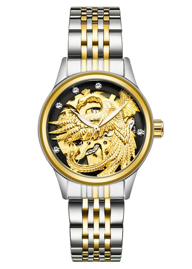 Đồng hồ nữ Tevise máy cơ mặt phượng 3D - Fullbox chính hãng