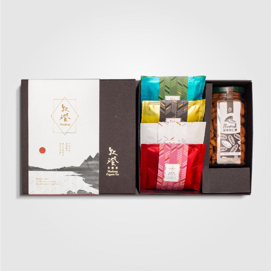 Hộp Quà Tặng 4 Loại Trà Đài Loan Kèm Hộp Hạnh Nhân Mucheng Organic Tea 2019 - 1573926 , 6655816462098 , 62_10280642 , 1799000 , Hop-Qua-Tang-4-Loai-Tra-Dai-Loan-Kem-Hop-Hanh-Nhan-Mucheng-Organic-Tea-2019-62_10280642 , tiki.vn , Hộp Quà Tặng 4 Loại Trà Đài Loan Kèm Hộp Hạnh Nhân Mucheng Organic Tea 2019