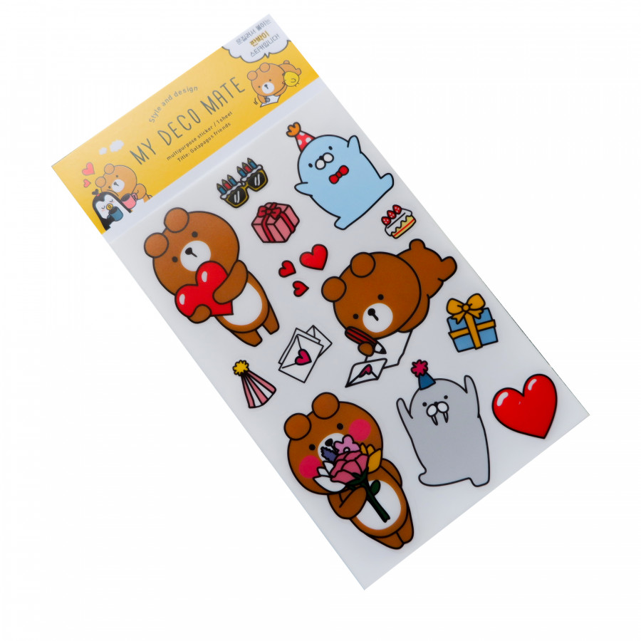 Sticker dán trang trí gấu