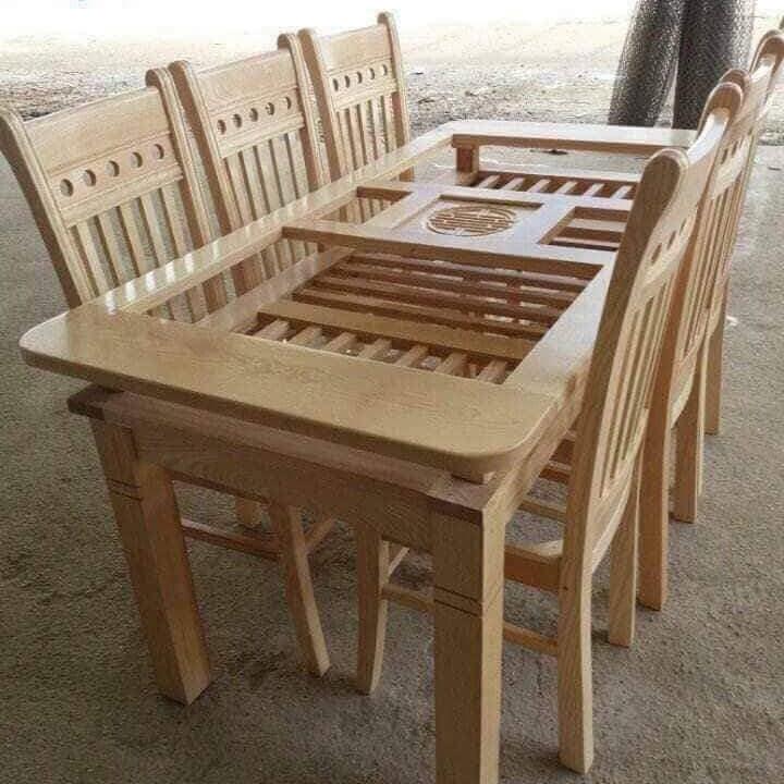 Bộ bàn ghế phòng ăn gỗ sồi - 1288327 , 8211259137115 , 62_13377565 , 4800000 , Bo-ban-ghe-phong-an-go-soi-62_13377565 , tiki.vn , Bộ bàn ghế phòng ăn gỗ sồi