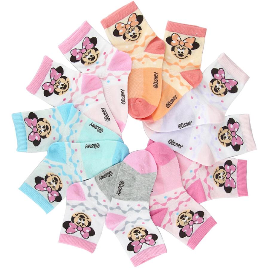 Bộ Tất Trẻ Em Chất Liệu Cotton Disney 6611 (6 đôi) - Màu ngẫu nhiên