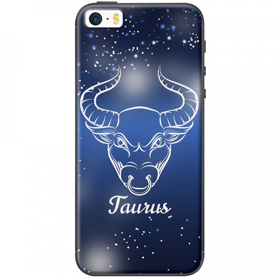 Ốp lưng  dành cho iPhone 5, iPhone 5s mẫu Cung hoàng đạo Taurus (xanh)
