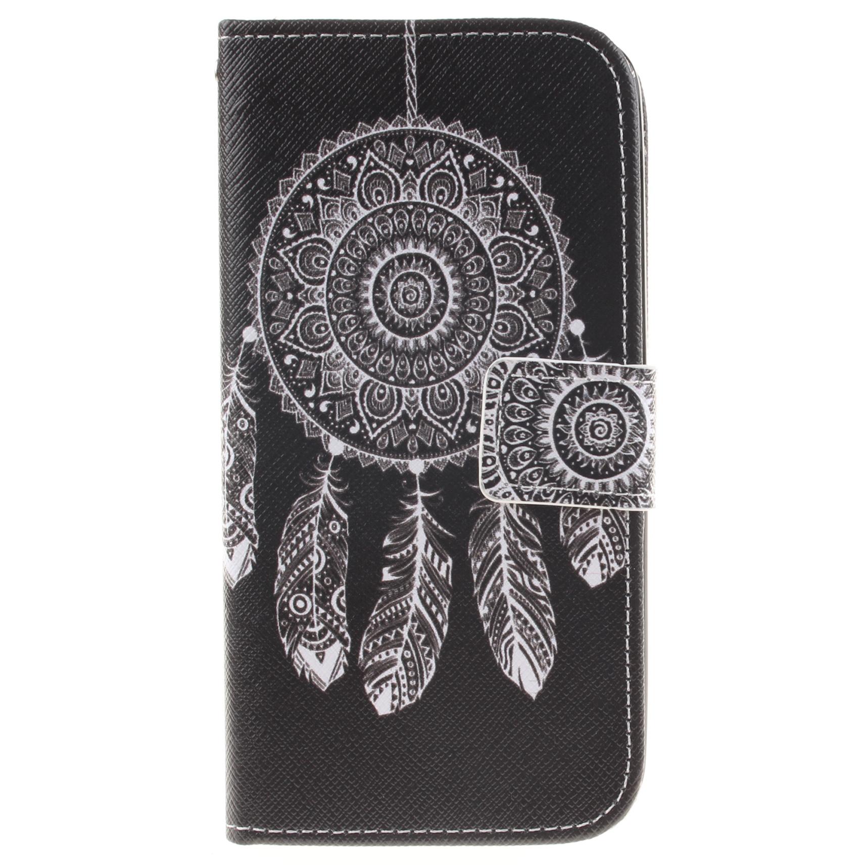 LG K10 Case Pattern Printed Flip Magnetic Wallet Card Slot Soft Protective Cover for LG K10