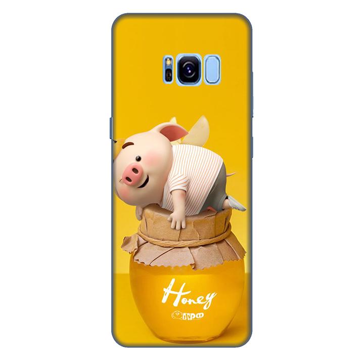 Ốp lưng nhựa cứng nhám dành cho Samsung Galaxy S8 in hình Heo Cute