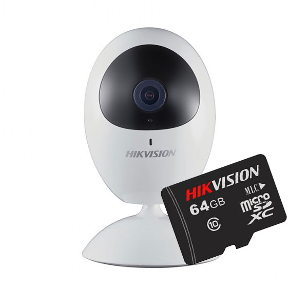 Camera IP Cube Hikvision DS-2CV2U21FD-IW 1080P + Thẻ nhớ Hikvision 64GB