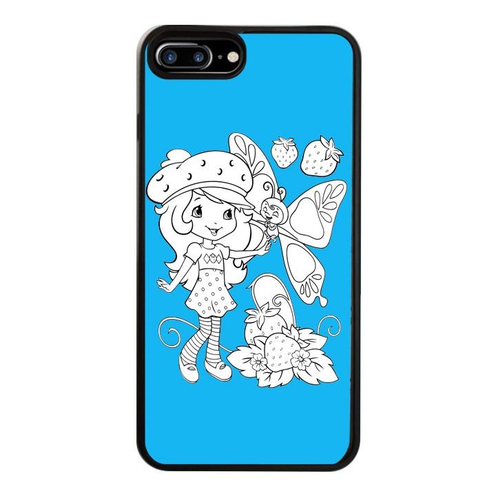 Ốp Lưng Kính Cường Lực Dành Cho Điện Thoại iPhone 7 Plus / 8 Plus Baby Strawberry Mẫu 2