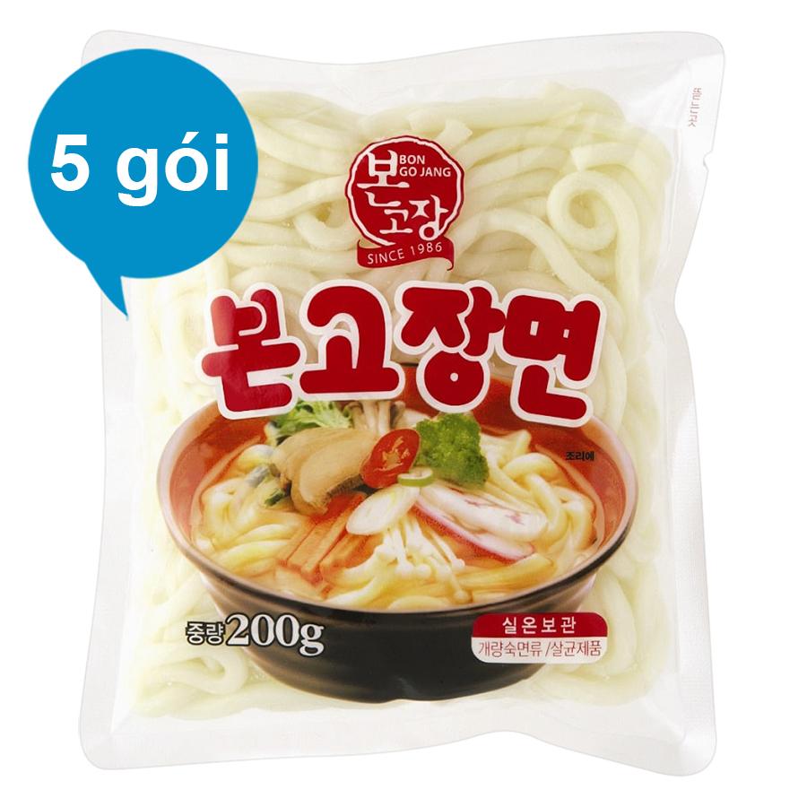 Combo 5 Gói Mì tươi Bongojang Hanil Food (200g / Gói)