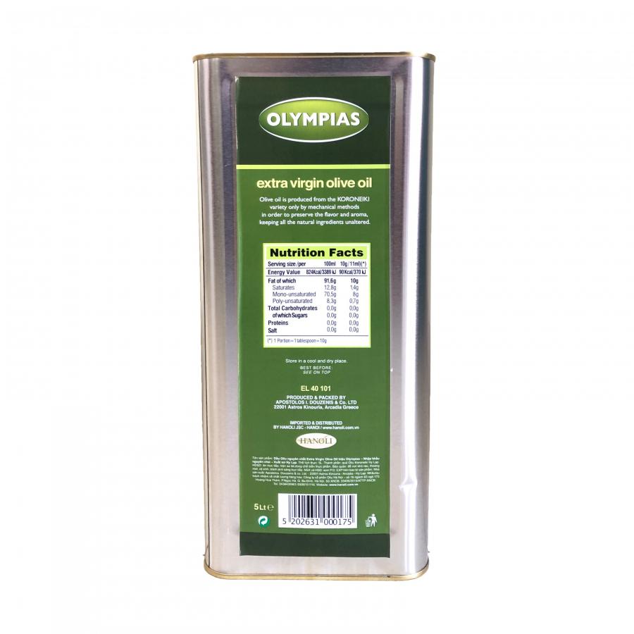 Dầu Oliu Siêu Nguyên Chất Olympias Extra Virgin Olive Oil (5 Lít)