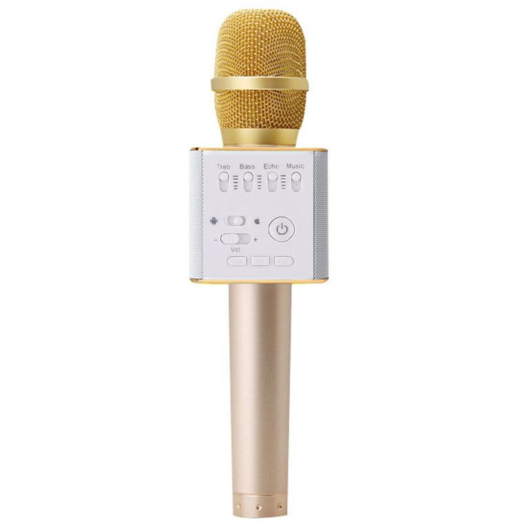 Micro Karaoke Không dây Bluetooth Loa Nghe Nhạc speakers Q9 Cao Cấp PF65 GOLD