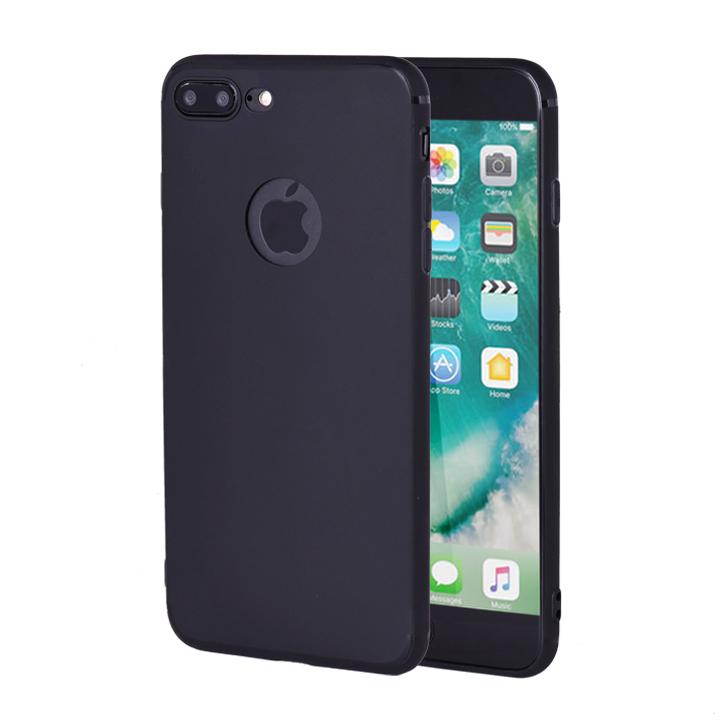 Ốp lưng silicon dẻo cho Iphone 7/8Plus với logo trái táo-BK156