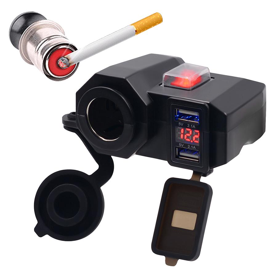 Bộ Sạc USB Tích Hợp Châm Thuốc Lá Cho Xe Máy - 9677093 , 8454365056875 , 62_15094580 , 404000 , Bo-Sac-USB-Tich-Hop-Cham-Thuoc-La-Cho-Xe-May-62_15094580 , tiki.vn , Bộ Sạc USB Tích Hợp Châm Thuốc Lá Cho Xe Máy