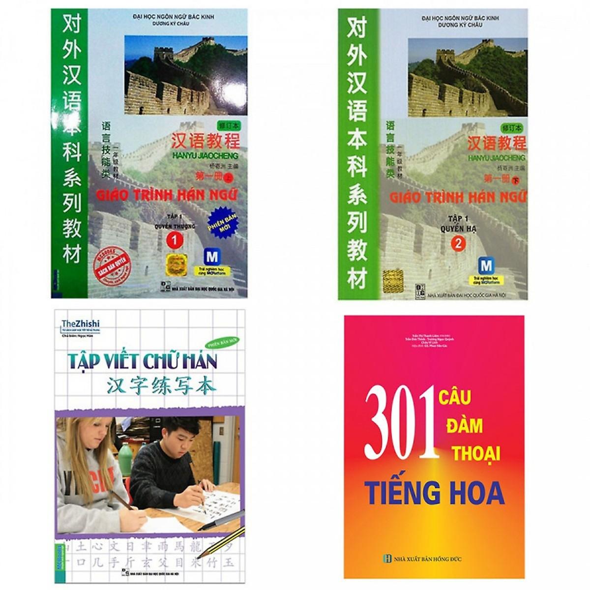 Combo Sách Học Tiếng Trung: Giáo Trình Hán Ngữ 1, 2 + Tập Viết Chữ Hán + 301 Câu Đàm Thoại Tiếng Hoa (Bộ 4 cuốn/... - 18615630 , 4261505715981 , 62_22148166 , 334000 , Combo-Sach-Hoc-Tieng-Trung-Giao-Trinh-Han-Ngu-1-2-Tap-Viet-Chu-Han-301-Cau-Dam-Thoai-Tieng-Hoa-Bo-4-cuon-...-62_22148166 , tiki.vn , Combo Sách Học Tiếng Trung: Giáo Trình Hán Ngữ 1, 2 + Tập Viết Chữ