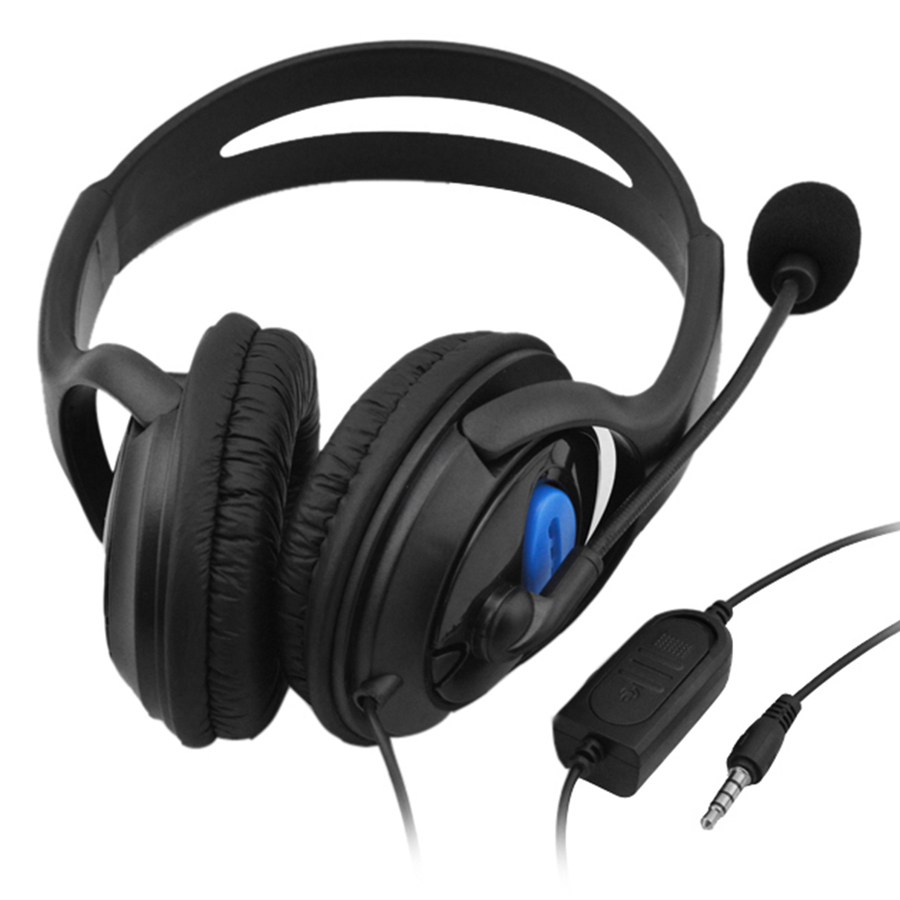 3.5mm Wired Gaming Headphones Over Ear Game Headset Stereo Bass Earphone with Microphone Volume Control for PC Laptop
