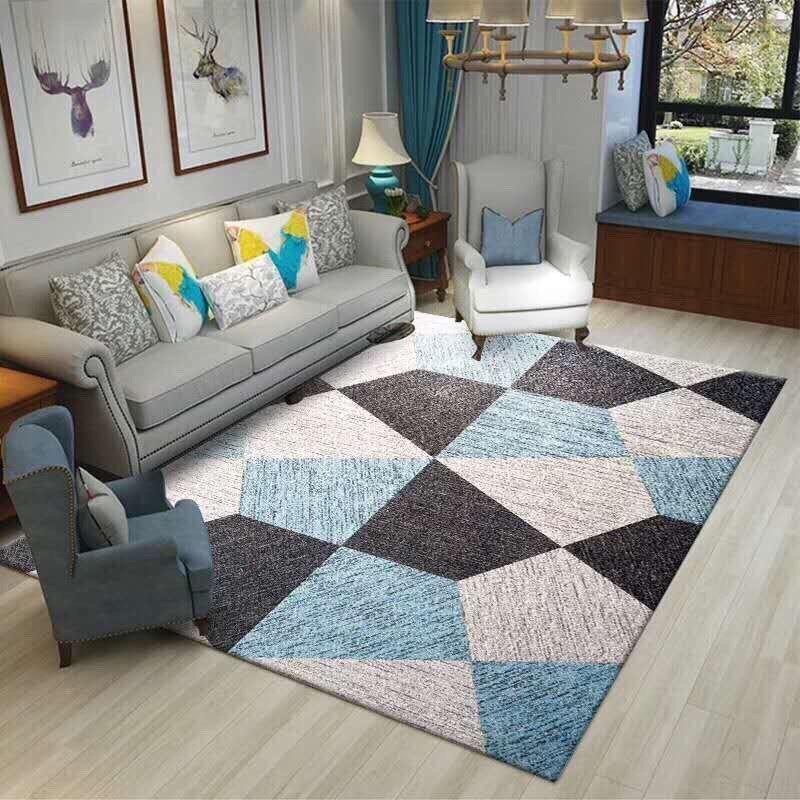 Thảm trang trí phòng khách (1m6 x 2m3) ( ô xanh dương + đen) - 1658713 , 6597088152249 , 62_11483072 , 1250000 , Tham-trang-tri-phong-khach-1m6-x-2m3-o-xanh-duong-den-62_11483072 , tiki.vn , Thảm trang trí phòng khách (1m6 x 2m3) ( ô xanh dương + đen)