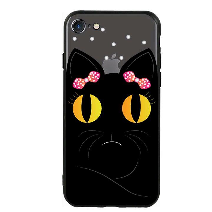 Ốp lưng viền TPU cho Iphone 7 / Iphone 8 - Mèo Mun 02