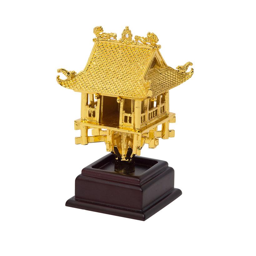 Biểu tượng chùa một cột mạ vàng 24K - Quà tặng khách nước ngoài