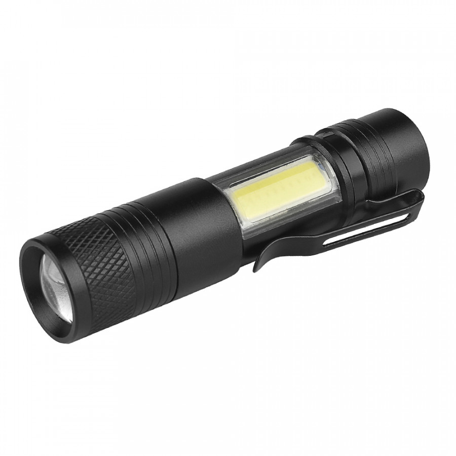 Mini LED Handheld Flashlight Pen Light Outdoor Hunting Zoom Flash Light Torch 3 Modes