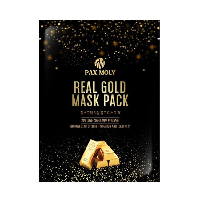 Bộ 5 Gói mặt nạ Pax Moly Real Gold làm trắng, dưỡng da (25ml*5)
