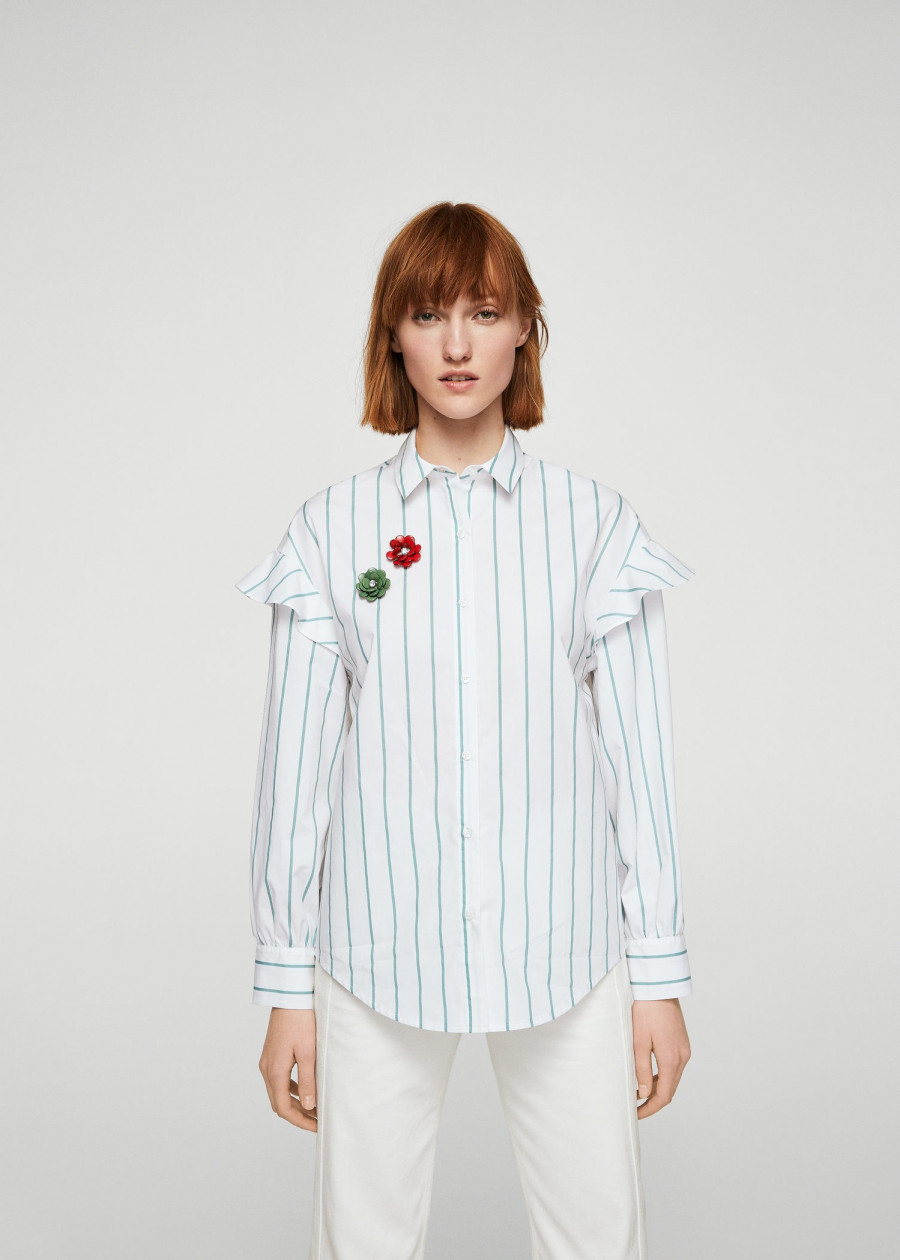 Áo Sơ Mi Nữ Shirt Rainbow Mango 13083724 - Mã Màu 1