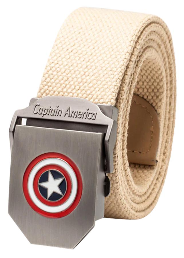 Thắt Lưng Vải Dù Nữ Mặt Khoá Hợp Kim Mặt Captain America - Màu 3