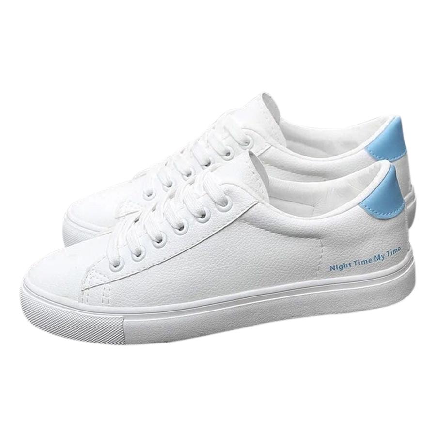 Giày Sneaker Nữ Đế Bằng Phong Cách Hàn Quốc Hapu