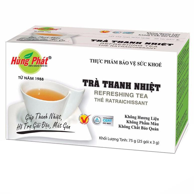 Trà Thanh Nhiệt Hùng Phát hộp 25 gói x 3 g