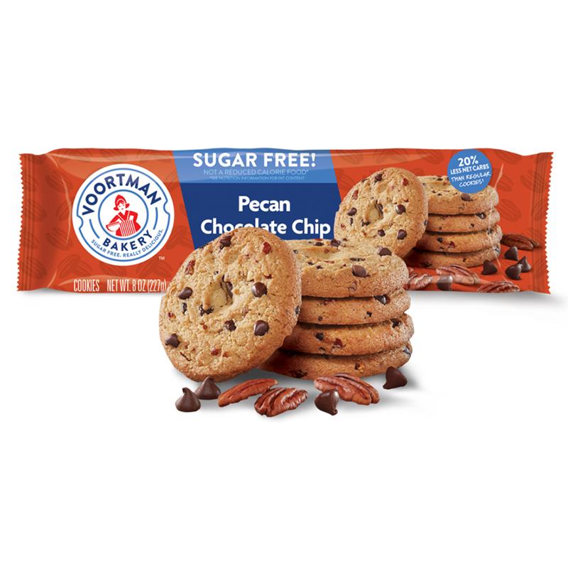 Bánh quy voortman socola với hạt hồ đào không đường 227g - Sugar Free Pecan Chocolate Chip