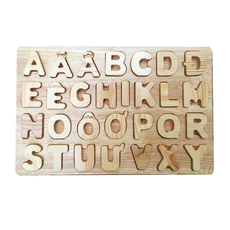 Đồ chơi gỗ - Bảng chữ cái cho bé