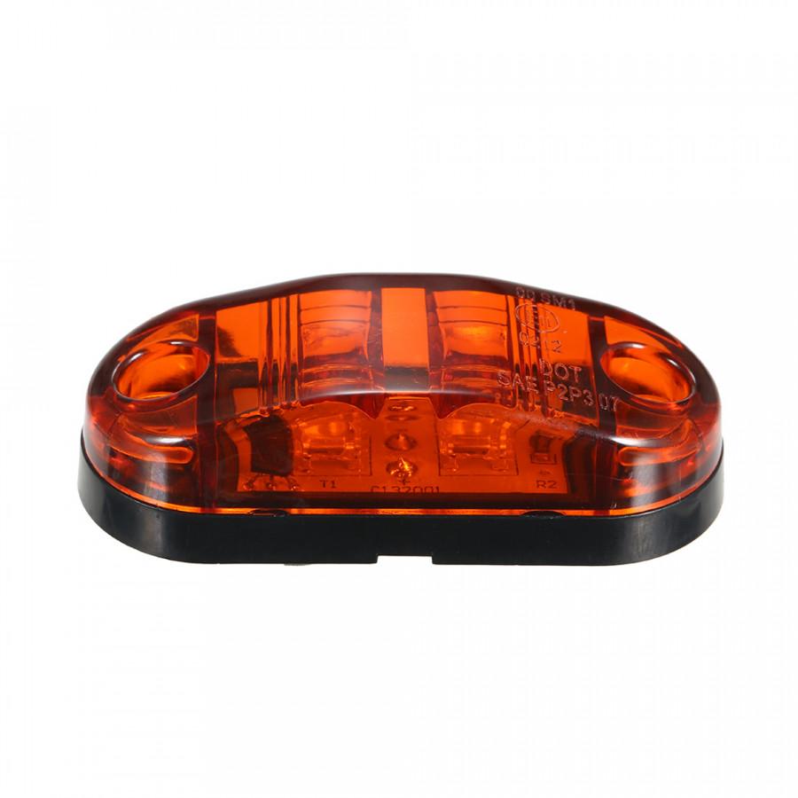 DC9-30V 2 LEDs Side Marker Indicator Light Clearance Lamp SMD2835 IP65 Water Resistance for Truck Bus Trailer RV Car