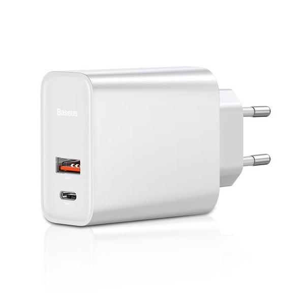 Adapter Cốc củ sạc Baseus Quick Charge 2 cổng sạc USB và Type-C cho điện thoại và Macbook máy tính bảng (Sạc nhanh QC 3.0... - 1957784 , 9683616587151 , 62_14363238 , 450000 , Adapter-Coc-cu-sac-Baseus-Quick-Charge-2-cong-sac-USB-va-Type-C-cho-dien-thoai-va-Macbook-may-tinh-bang-Sac-nhanh-QC-3.0...-62_14363238 , tiki.vn , Adapter Cốc củ sạc Baseus Quick Charge 2 cổng sạc USB