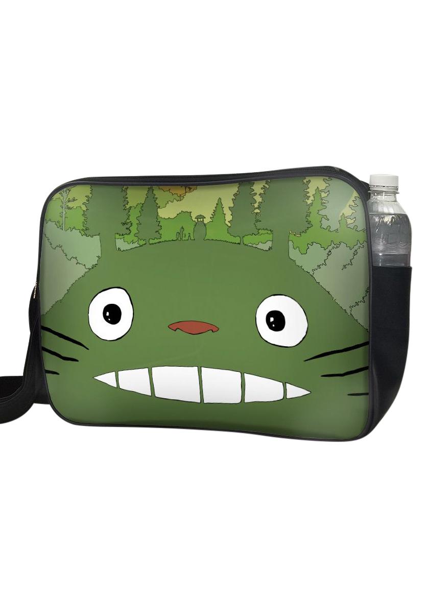 Túi Đeo Chéo Hộp Unisex In Hình Totoro Rừng Cây - TCMA217
