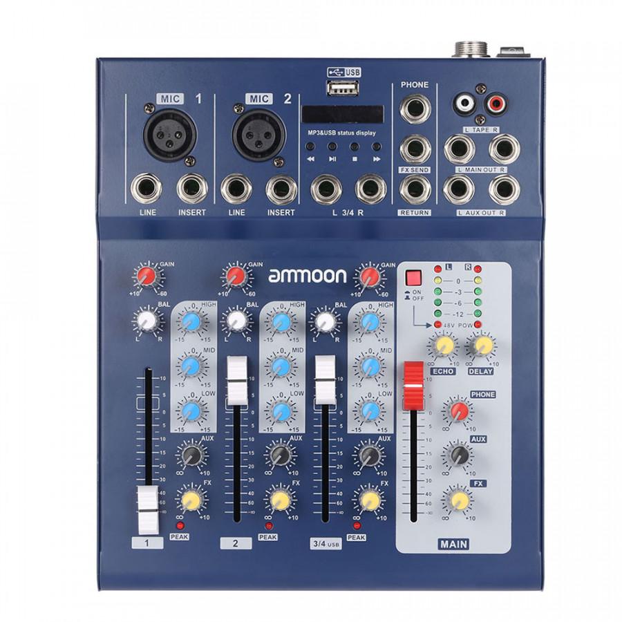 Bộ Điều Khiển Trộn Âm Thanh Ammoon F4-USB (48V) - 5038000 , 8051362153585 , 62_15540454 , 1357000 , Bo-Dieu-Khien-Tron-Am-Thanh-Ammoon-F4-USB-48V-62_15540454 , tiki.vn , Bộ Điều Khiển Trộn Âm Thanh Ammoon F4-USB (48V)