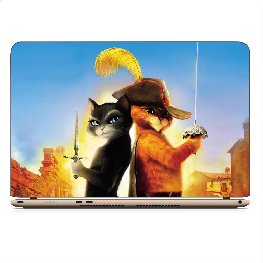 Miếng Dán Skin In Decal Dành Cho Laptop - Mèo Dihia 3 - Mã 061118