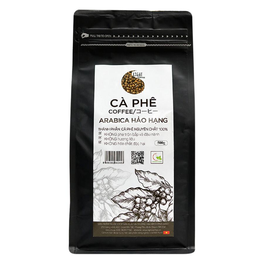 Cà Phê Hạt Nguyên Chất 100% Arabica Hảo Hạng Light Coffee AHH-500 (500g) - 1476469761254,62_1207091,381000,tiki.vn,Ca-Phe-Hat-Nguyen-Chat-100Phan-Tram-Arabica-Hao-Hang-Light-Coffee-AHH-500-500g-62_1207091,Cà Phê Hạt Nguyên Chất 100% Arabica Hảo Hạng Light Coffee AHH-500 (500g)