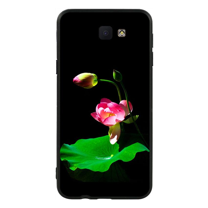 Ốp lưng viền TPU cao cấp cho Samsung Galaxy J5 Prime  - Lotus 01