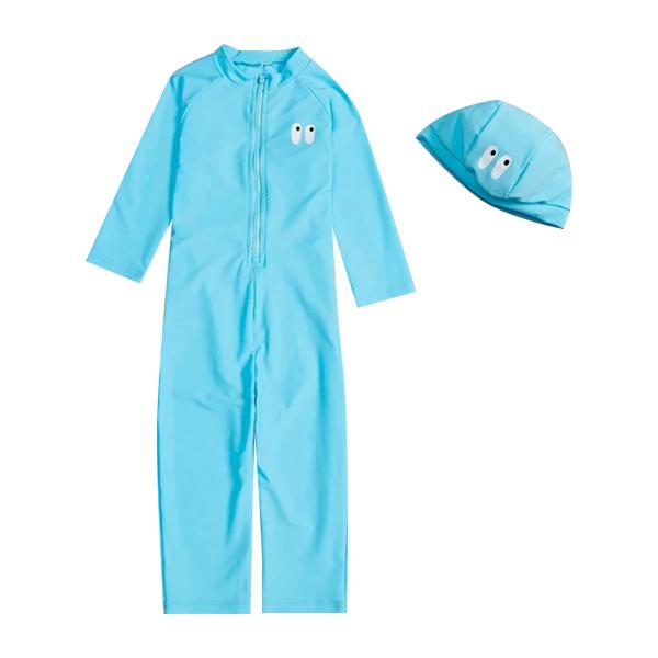 Set đồ bơi bé gái mặt cười kèm mũ BONCHOP BBG-11412679