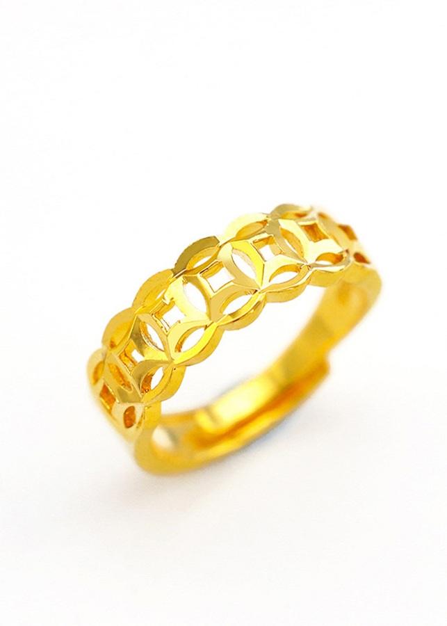 Nhẫn kim tiền phong thủy tài lộc may mắn mạ vàng 24k