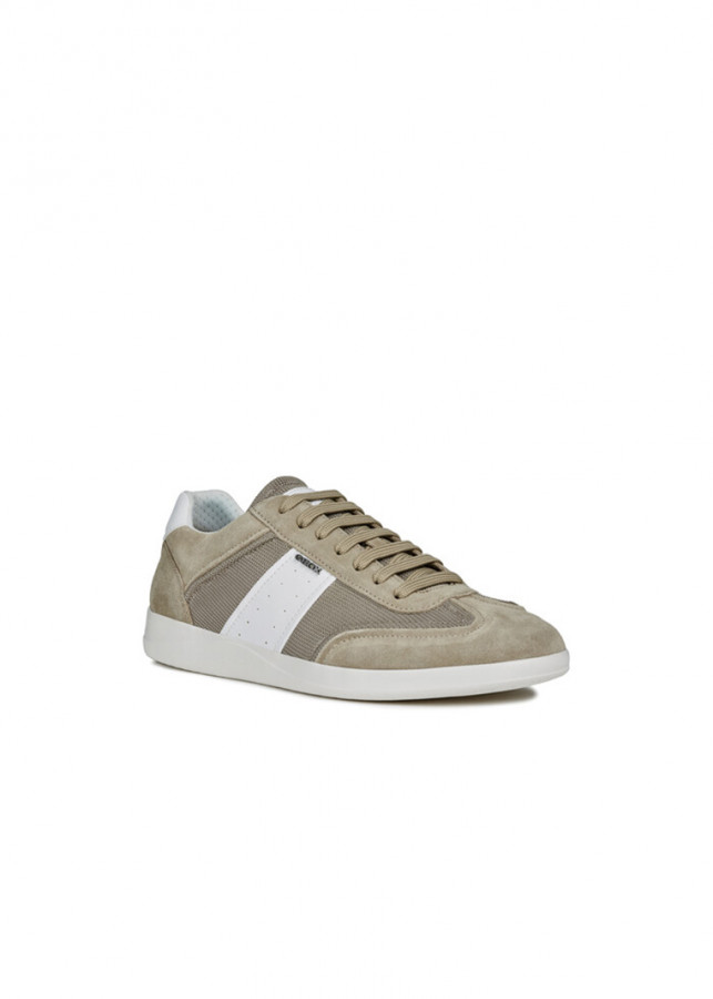 Giày Sneakers Nam GEOX U KENNET A LT OLIVE/WHITE