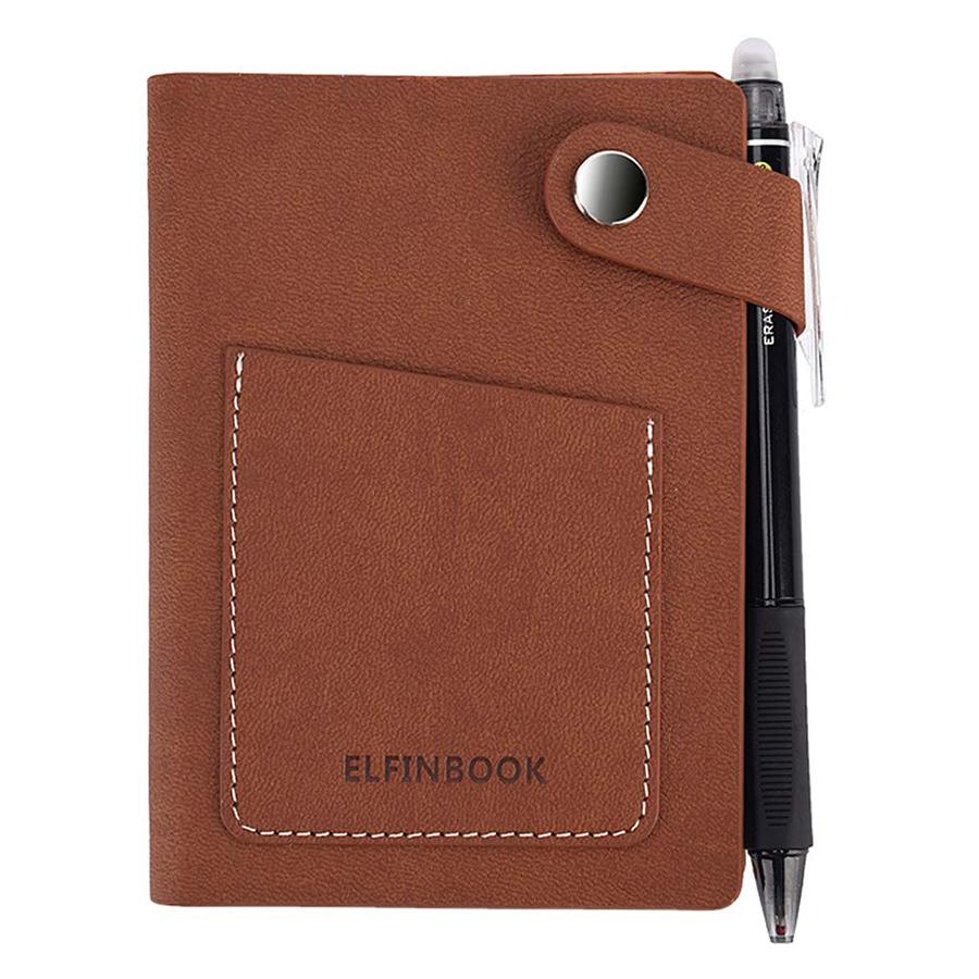 Sổ ghi chú thông minh Elfinbook mini Vintage Leather A6 (15 x 10 cm) - Hàng Chính Hãng