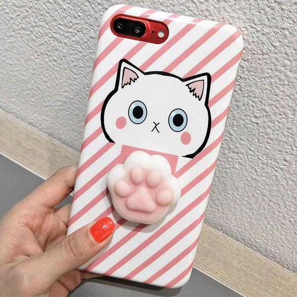 Ốp lưng điện thoại mèo con V.1 (5.5 inch, Dành cho Iphone 7 plus) - Màu Hồng