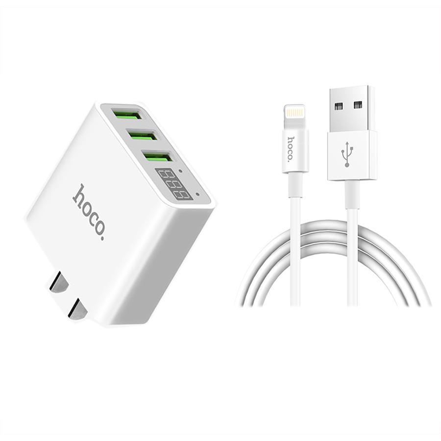 Bộ Sạc Nhanh Cốc 3.0A có màn hình led Và Cáp Sạc Charging Data Cho Apple Lightning HOCO (trắng) - 980225 , 8442288557296 , 62_2477319 , 390000 , Bo-Sac-Nhanh-Coc-3.0A-co-man-hinh-led-Va-Cap-Sac-Charging-Data-Cho-Apple-Lightning-HOCO-trang-62_2477319 , tiki.vn , Bộ Sạc Nhanh Cốc 3.0A có màn hình led Và Cáp Sạc Charging Data Cho Apple Lightning HOCO (tr