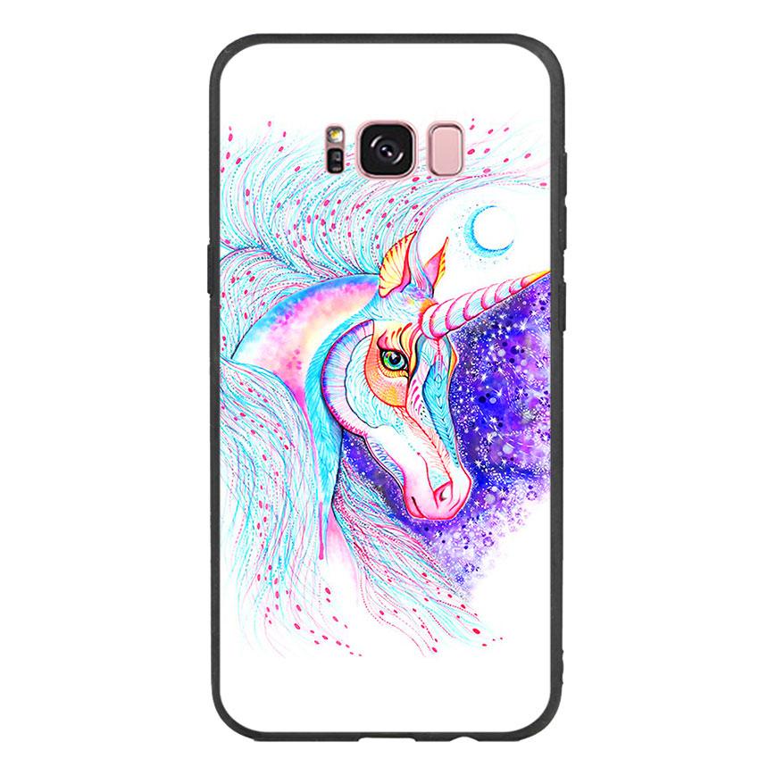 Ốp lưng nhựa cứng viền dẻo TPU cho điện thoại Samsung Galaxy S8 Plus - Horse 01