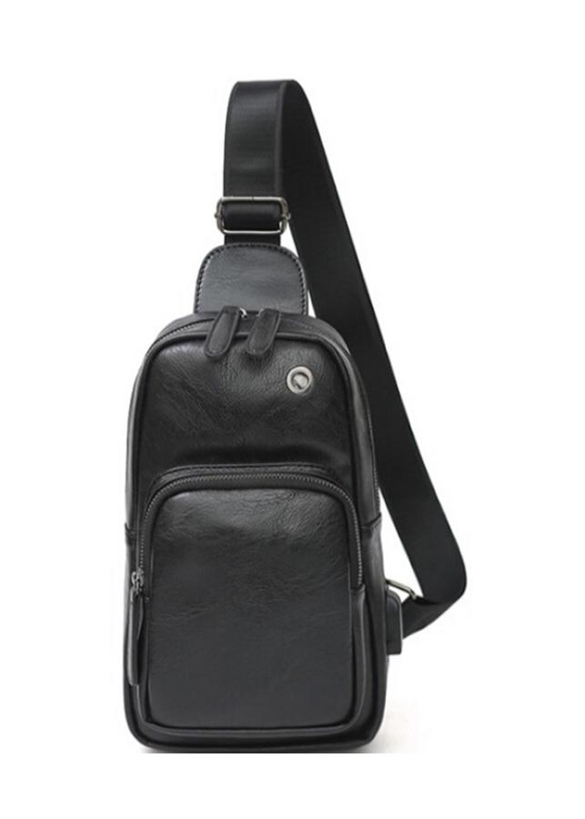 Túi đeo da nam KH12 Tặng khóa tiện ích