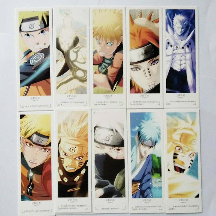 Bookmark Anime Naruto hộp 36 tấm