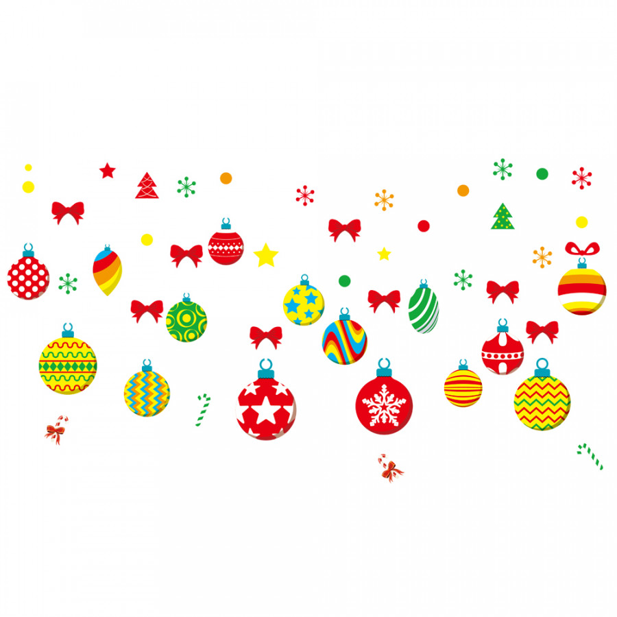 Christmas Decorations Glass Window Stickers DIY Wallpaper PVC Removable Self-adhesive Decorative Wall Stickers Shop Home
