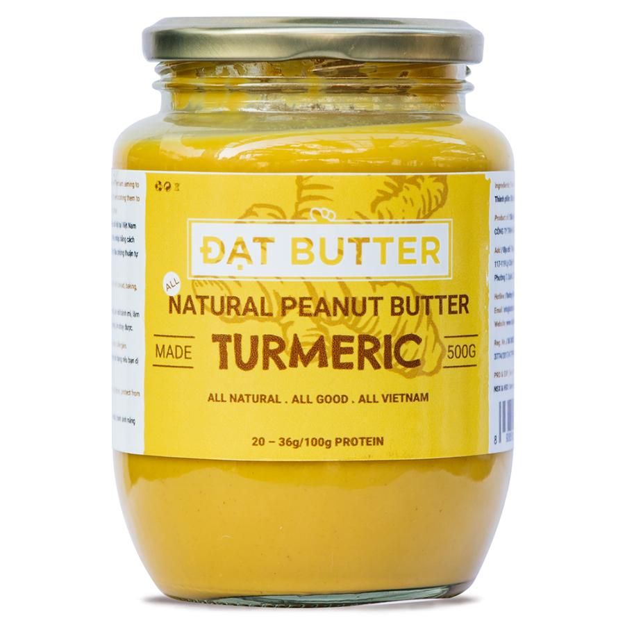 Bơ Đậu Phộng Tự Nhiên Vị Nghệ Đạt Butter (500g)