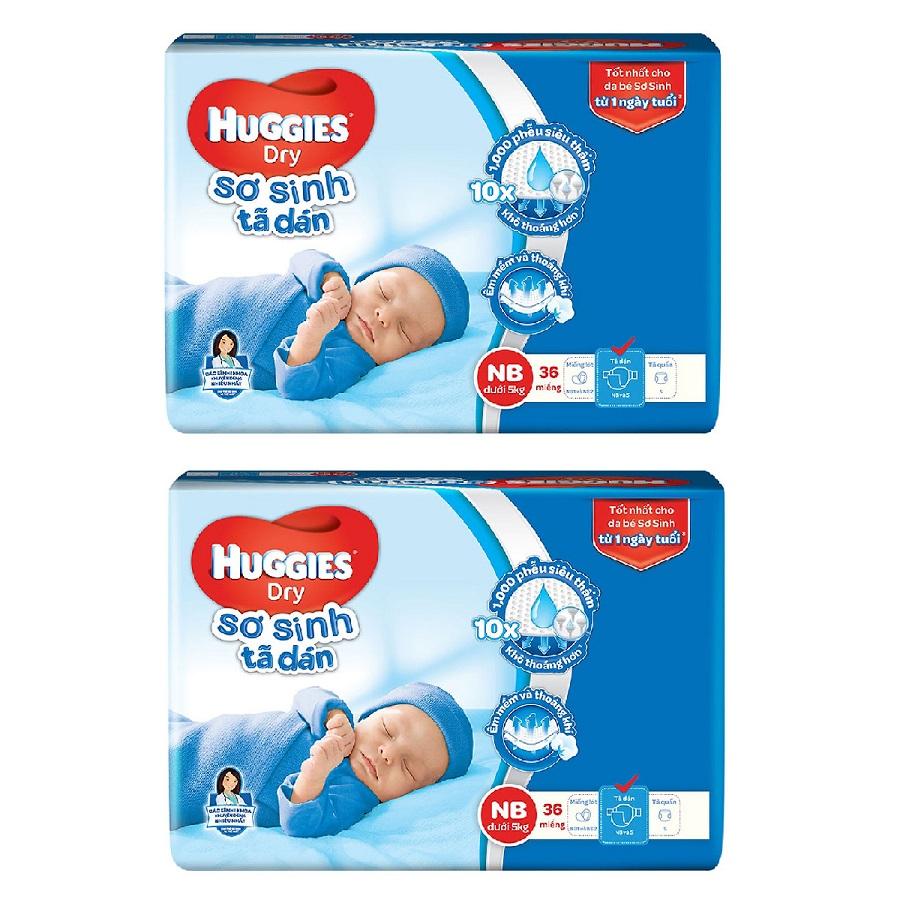 2 Gói Tã Dán Sơ Sinh Huggies Dry Newborn NB36 (36 Miếng) - Bao Bì Mới - 9597137 , 2791567543557 , 62_17518982 , 220000 , 2-Goi-Ta-Dan-So-Sinh-Huggies-Dry-Newborn-NB36-36-Mieng-Bao-Bi-Moi-62_17518982 , tiki.vn , 2 Gói Tã Dán Sơ Sinh Huggies Dry Newborn NB36 (36 Miếng) - Bao Bì Mới